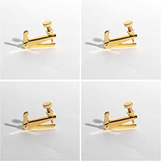 MI&VI Violin Fine Tuners - Stainless Steel Adjusters, Gold, 4Pcs (3/4-4/4 Size)