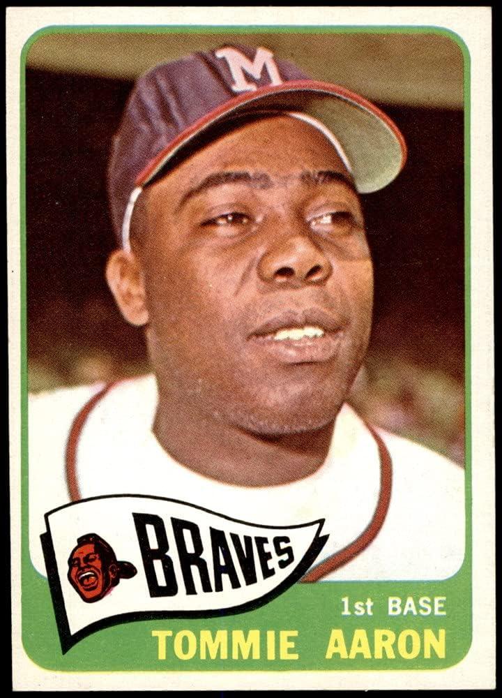 1965 Topps Low price # 567 Tommie Aaron Long-awaited Milwaukee Braves Baseball Card N