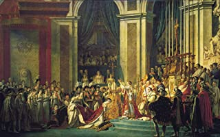 Jacques Louis David - The Coronation of Napoleon and Josephine, Size 24x36 inch, Poster art print wall décor