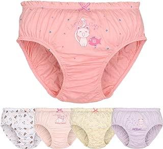 DVANIS Baby Big Girls Toddler Kid Cute 6 Packs Cotton Underwear Briefs Hipster Knickers