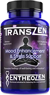 TransZen | Natural Supplement - Depression & Anxiety | Boost Your Mood & Stay Stress Free | Powerful Combin...