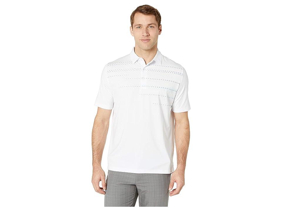 Callaway Mini Geo Print Polo (Bright White) Men