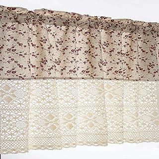 amazon fr rideaux de dentelle de coton