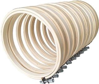10Pcs Stickrahmen Bambus Stickerei Ring Cross Stitch Hoop Stickerei Rahmen Durchmesser 10cm Nähset für Stickerei Kreuzstich Tapisserie