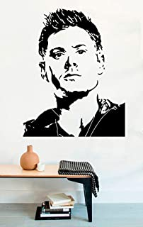 FSDS Vinyl Wall Decal - Portrait Dean Winchester Supernatural TV Shows Decal - Home Decor Sticker Vinyl Decals