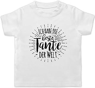 Shirtracer Sprüche Baby - Ich Habe die Beste Tante der Welt - Baby T-Shirt Kurzarm