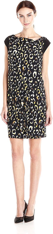 NINE WEST Women's Cowl Neck Night Spot Jersey Dress