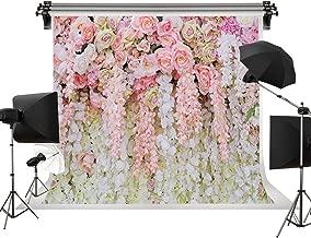 Dudaacvt 8x8ft Rose Floral Wall Wedding Bouquet Photography Backdrop Art Fabric Studio Pink Flowers Wall Photo Backdrop Q0210808