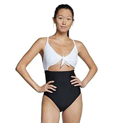 Speedo Tie Front One-Piece (Speedo Black) Women