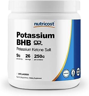 Nutricost Potassium BHB Salts, Exogenous Ketone Supplement, 6.4g Beta-Hydroxybutyrate Per Serving, 250 Grams