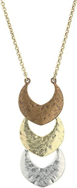 Lucky Brand - Tri-Tone Pendant Necklace