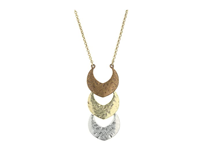 Lucky Brand  Tri-Tone Pendant Necklace (Two-Tone) Necklace