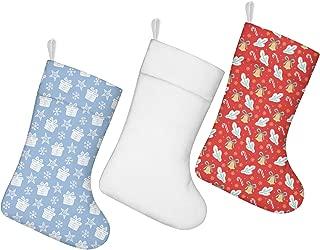 nsseoydkk Christmas Stockings Socks Christmas Tree Candy Cane Purple White Christmas Stockings 3 Pack