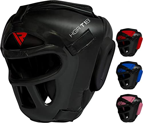 RDX Headguard for Boxing, MMA Training - Head Guard with Removable Face Grill, Cheeks, Ear, Mouth Protection-Headgear...