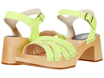 Swedish Hasbeens Katja High (Neon Yellow) Women