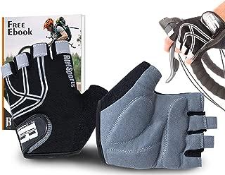 RIMSports Cycling Gloves with Gel Padded Shock-Absorbing Anti-Slip Mountain Bike Gloves