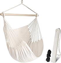 Chihee Hängmatta stol stor hängmatta stol avkoppling hängstol bomull väv för maximal komfort och hållbarhet inomhus/utomhu...