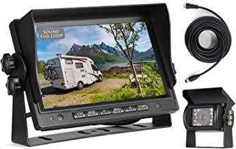 "$95 » Sponsored Ad - RV Backup Camera with Audio Microphone,7"" Speaker Sound IPS Monitor,1080P Reverse Rear View,Sharp CCD Chip,..."