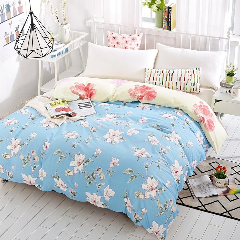 CHENGYI Cubierta de edrojoón de algodón de patrón de Flor Azul Cubierta de edrojoón de edrojoón de Estudiante de otoo y de Invierno de Pieza única (Talla   180  220cm)