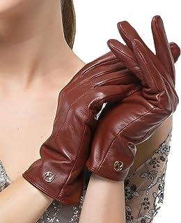 Nappaglo donne classico i guanti di cuoio italiano di pelle inverno caldo puro cashmere guanti da guida (touchscreen o non...