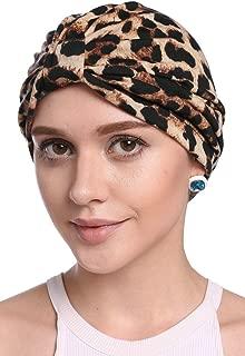 Women's Elegant Floral Pleated Indian Turban Hat Chemo Cancer Cap Sleep Cap