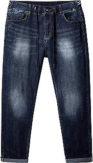 Jeans Elasticizzati con Coulisse Pantaloni Casual Comodi e Comodi a Vita Alta Elastici alla Moda Taglie Forti