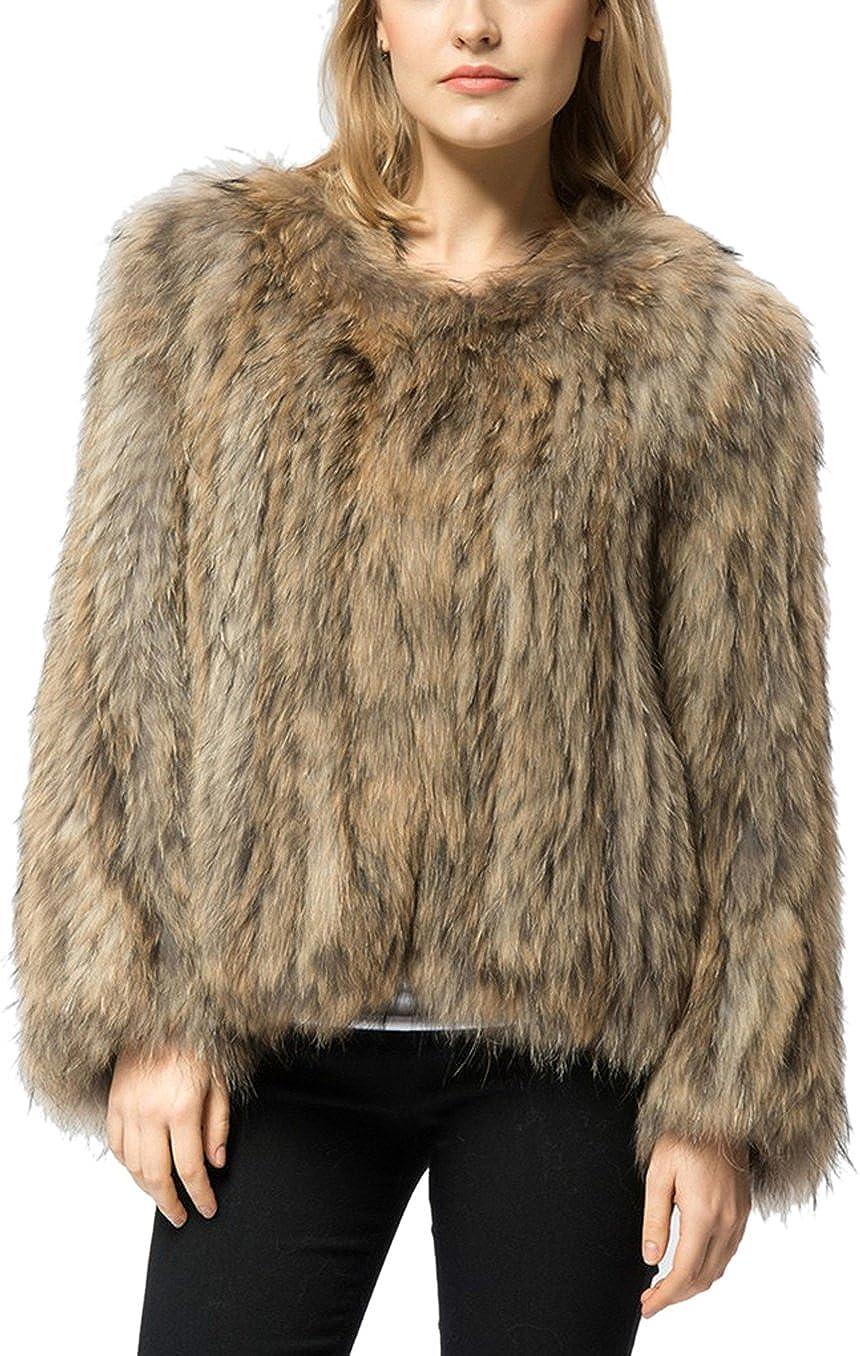 Women's Stylish Short Thick Winter Cardigan Outerwear Faux Fur Warm Coat