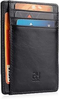 GH GOLD HORSE Slim RFID Blocking Card Holder Minimalist Leather Front Pocket Wallet for Women