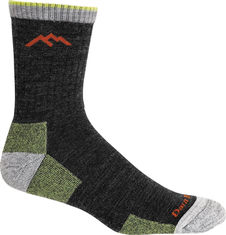 Darn Tough Men's Merino Wool Hiker Micro Crew Cushion Sock (Style 1466)  6 Pack (Lime, Medium)