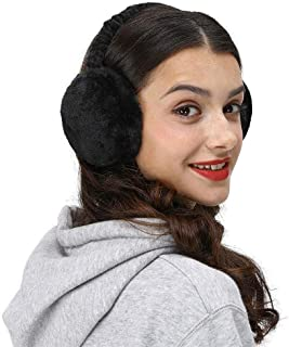 LETHMIK Faux Fur Ear Warmers,Outdoor Foldable Winter Earmuffs Womens&Mens Earlap Warm Ear Protection