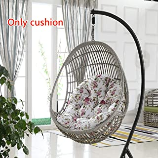 MonthYue Hanging Basket Chair Cushion, Hanging Egg Hammock Cushions Thick Nest Single Basket Hanging Egg Swing Seat Cushion,Multi-Colored