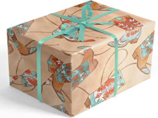 Wrap & Revel® Boutique Everyday Gift Wrap (Cowboy Boots, 10 Feet Folded)
