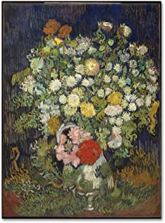 Bouquet Of Flowers In A Vase by Van Gogh, 35x47-Inch Canvas Wall Art