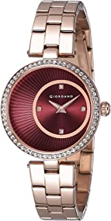 Giordano Analog Red Dial Women's Watch - A2056-66