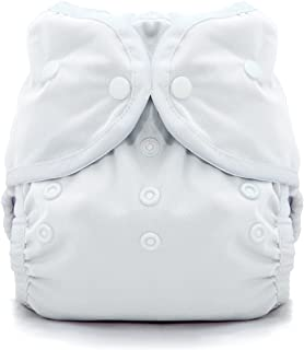 Thirsties Duo Wrap Cloth Diaper Cover, Snap Closure, White Size Two (18-40 lbs)