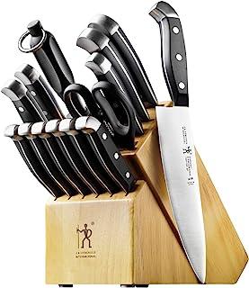J.A. Henckels International Statement Kitchen Knife Set with Block, 15-pc, Chef Knife, Steak Knife set, Kitchen Knife Shar...