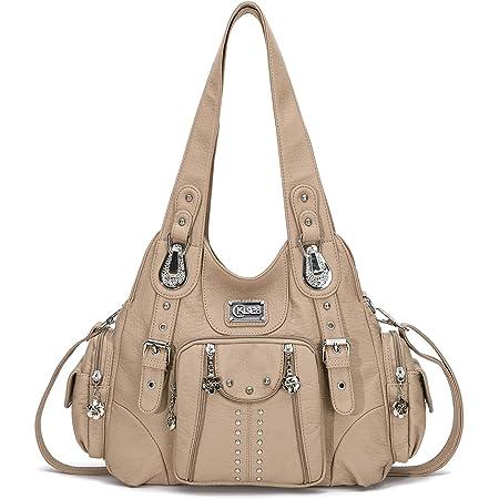 KL928 Damen Tasche Handtasche Schultertasche Umhängetaschen weiches PU leder Damenhandtasche Henkeltaschen Lederhandtasche Hobo taschen für Damen (Aprikose)