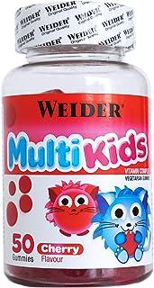 Multikids Up Cherry. 50 gummies. Complejo vitamínico para niños. Producto 100% vegetal y sin gluten