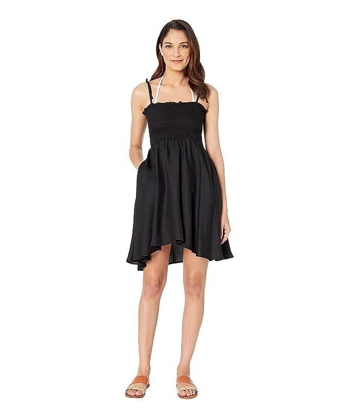 Vitamin A Swimwear Gigi Dress Cover-Up (Ecomuslin Black) Women