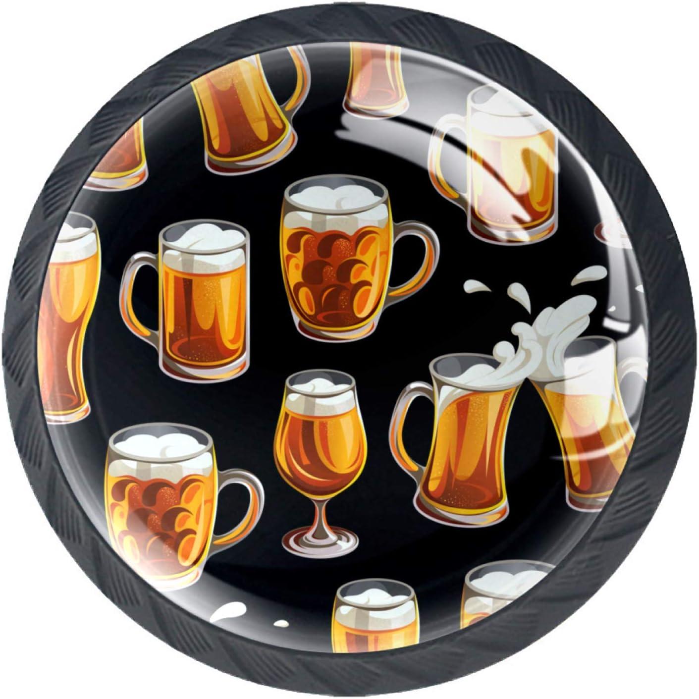 Gbziyjk Tiradores de cajón para decoración de Armario de Cocina de Oficina en casa,Vaso De Cerveza Tazas Vasos