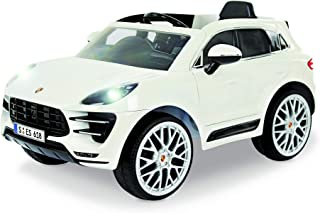 """Rollplay W416AC 6V Porsche Macan Kids Ride-On Car - For Boys & Girls Ages 3 & Up - Battery-Powered Ride On Toy - White, 24.41"""" x 23.23"""""""