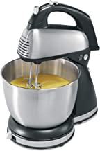 Hamilton Beach Classic Hand and Stand Mixer, 4 Quarts, 6 Speeds with QuickBurst, 290 Watts, Bowl Rest, Black and Stainless...