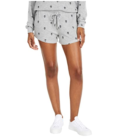 P.J. Salvage Minimalist Skull Shorts (Heather Grey) Women