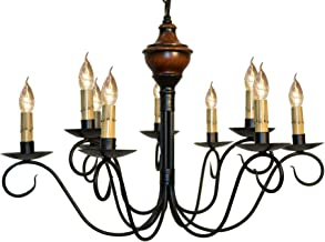 product image for Washington Wood 2-Tier Chandelier - Pumpkin Spice - Handcrafted in USA