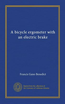A bicycle ergometer with an electric brake