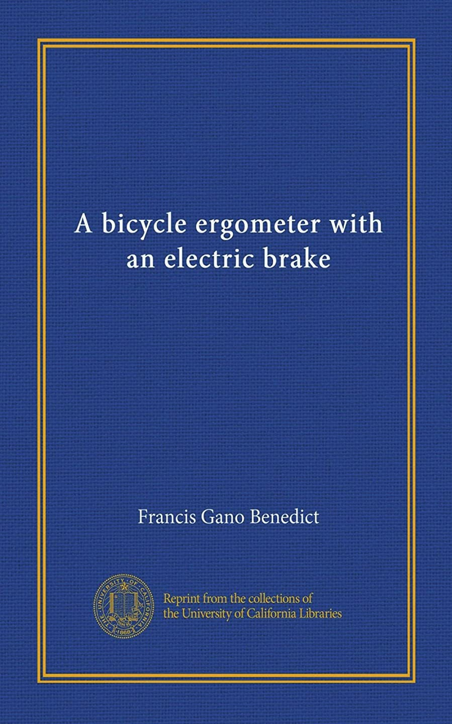 連邦聴衆減少A bicycle ergometer with an electric brake