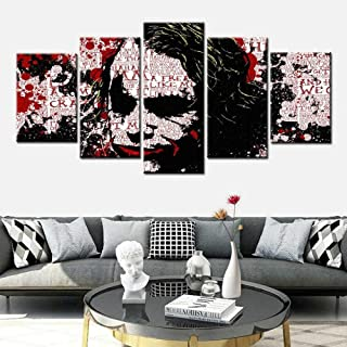 TXCY 5 Canvas Picture 5 Piece HD Canvas Art Painting Bat Enemy Film Poster Wall Art Pictures For Living Room Home Decorati...