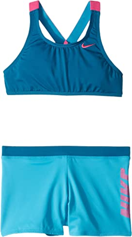 best service ad2b0 7881c Rift Prism Cross-back Bikini and Shorts (Little Kids Big Kids). Nike Kids