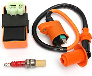 Hitommy Ignition Coil+Racing CDI Box+ Spark Plug For GY6 50 125 150cc Moped Scooter ATV Go Carts
