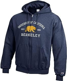 UC Berkeley Cal Bears NCAA Champion Full Zip Sweatshirt Fleece Hood